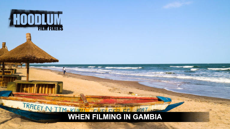 Filming in Gambia