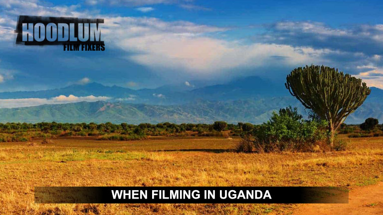 When filming in Uganda