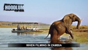 Filming in Zambia